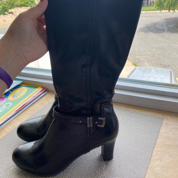 Kelly & Katie Shoes - Black wide Calf Boots